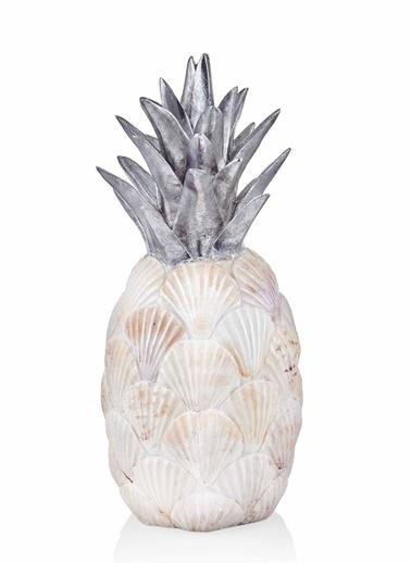 The Mia Dekoratif Ananas - 42 Cm Krem
